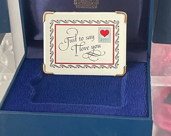 Fabulous 2001 Halcyon Days 'Just To Say I Love You' Envelope Gift - Perfect For Valentine's Day