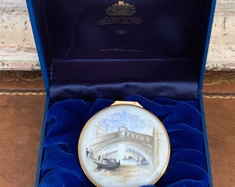 Beautiful Large Halcyon Days Trinket Box Ltd Edition Commemorating 100 Years of the Tate Gallery Depicting Venice - The Rialto - Moonlight