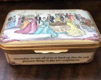 Rare Halcyon Days Limited Edition Trinket Box 30/200 Lady Windermere's Fan