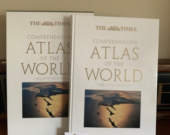The Times Twelve Edition Comprehensive Atlas Of The World Book In Dust Jacket