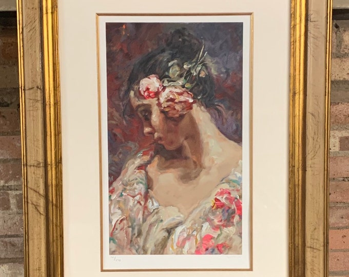 Beautiful Limited Edition Serigraph 162/275 Titled 'Adolesencia' by the Spanish Artist Jose Royo