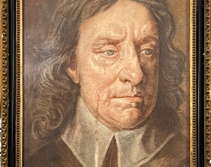 1910 Coloured Photogravure Of Oliver Cromwell Published By Medici Society.