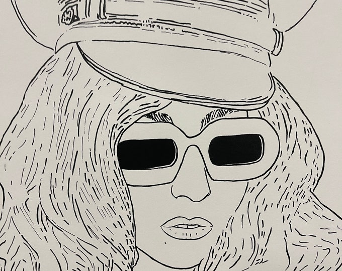 Superb Limited Edition Of 50 Silkscreen Print Of Lady Gaga By Si Gross 2011