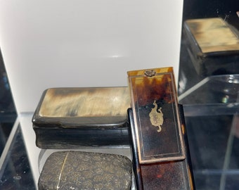 Highly Collectible 19th Century Snuff Boxes and a Brass Vesta Case