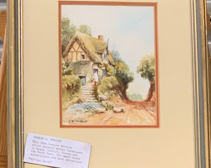 An appealing Edwardian watercolour by the late nineteenth and early twentieth century English artist Charles W. Morsley.