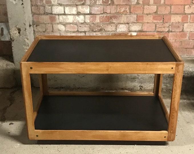 Superb Original Retro Mid Century 1950's Danish CF Christensen Silkeborg 2 Tier Teak Trolley Coffee Table