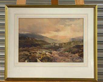 Fabulous Original 19th Century Landscape Watercolour By The Liverpool Artist Thomas Huson