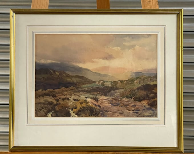 Fabulous Original 19th Century Landscape Watercolour By The Liverpool Artist Thomas Huson