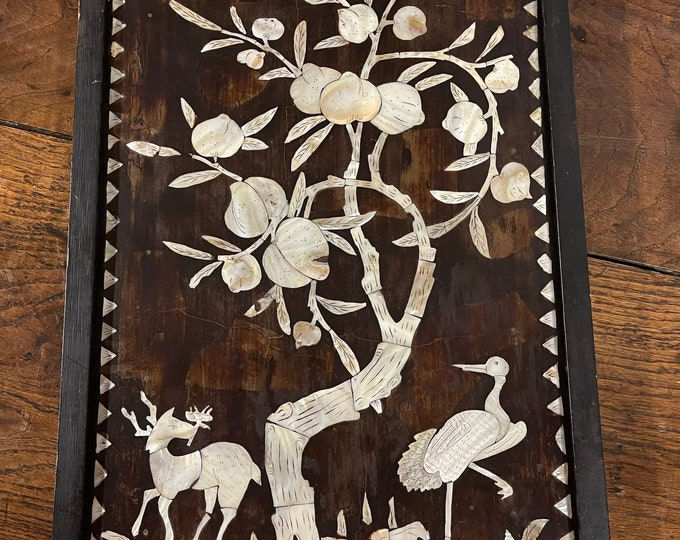 Beautiful Antique Decorative Chinese Mother Of Pearl Artwork