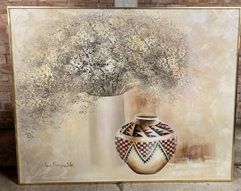 Wonderful Very Large Original Still Life Oil Painting By The Artist Lee Reynolds