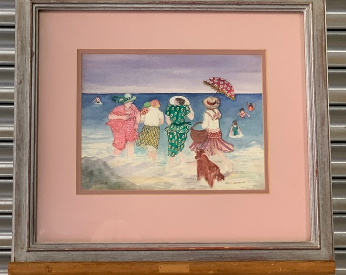 Original Watercolour By Gillian Lawson ' Dancing On The Water' Dated 1987