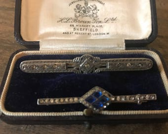 Two Wonderful Victorian Silver Bar Brooches