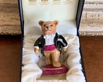 Beautiful Halcyon Days Porcelain Teddy Bear in Original Box - Would Make a Fab Gift