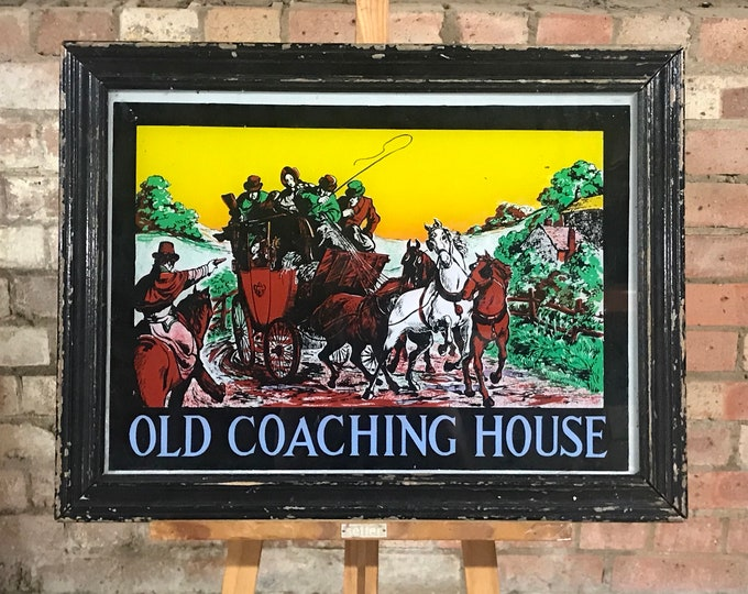 Wonderful Vintage 'Old Coaching House' Pub Advertising Mirror