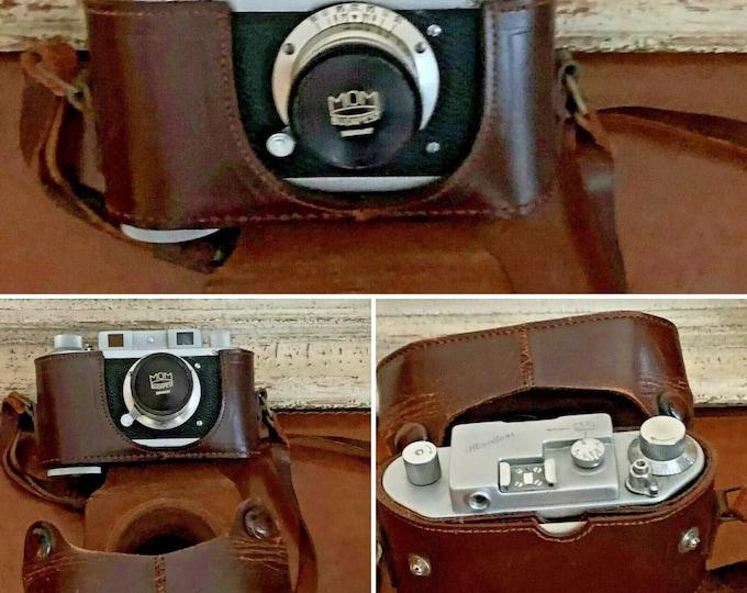 Vintage MOM Mometta Camera With Original Leather Case