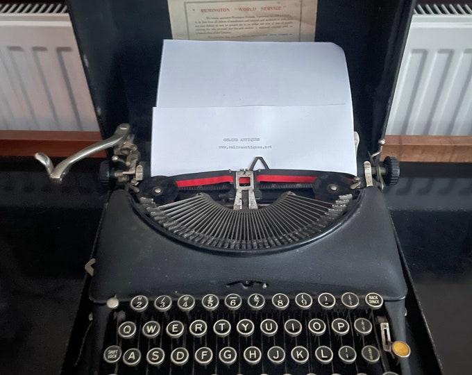 Lovely Vintage Circa 1930's Remington No.5 Portable Typewriter