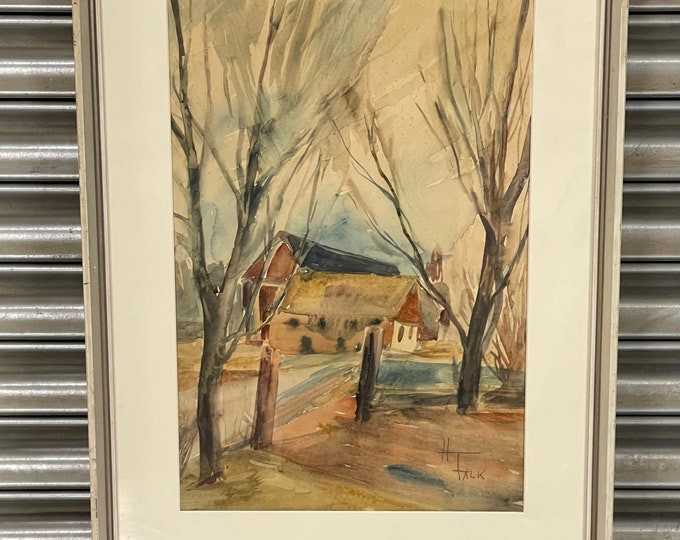 Wonderful Watercolour by the Swedish Artist Hildegard Schüller-Falk (1922 -1998)