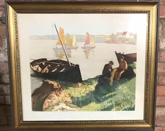Limited Edition 137/350 Coloured Etching By Georges Pierre Guinegault