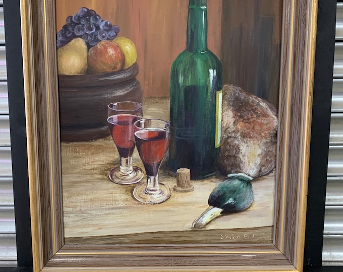 Original Still Life Oil Painting By Sheila Ball - Kitchen Table Scene