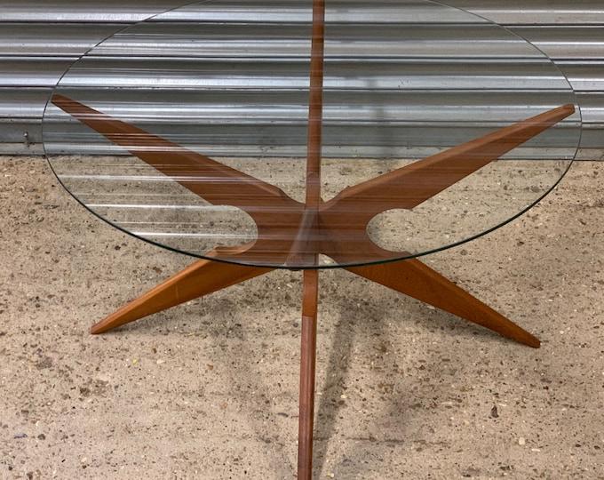 1960's Danish Sika Mobler Teak Spider Coffee Table Designed By Vladimir Kagan