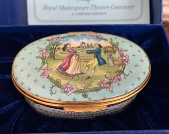Rare Limited Edition Halcyon Days Royal Shakespeare 'As You Like It' Musical Trinket Box - Limited Edition 36 of 250