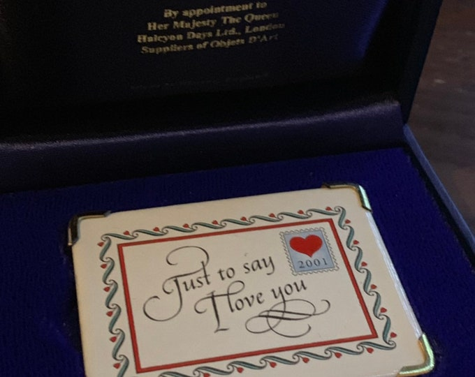 Fabulous 2001 Halcyon Days 'Just To Say I Love You' Envelope Gift - Perfect For Valentine's Day or Someone who is Celebrating Their 18th