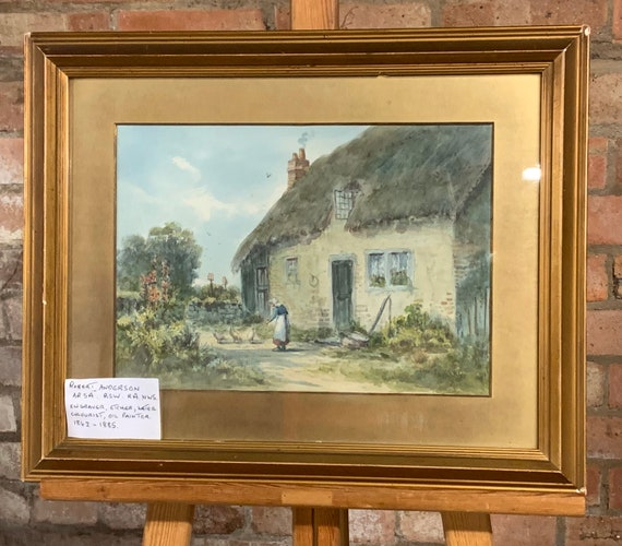 Original Watercolour By The Scottish Artist Robert Anderson Dated 1871