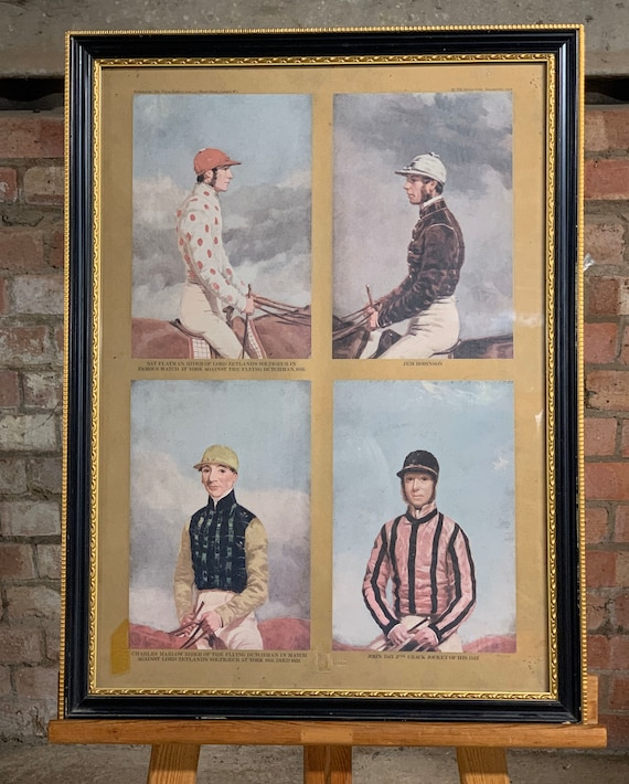 Superb Limited Edition Colour Print of Famous Jockeys, Published by Tryon Gallery for the Jockey Club in 1972