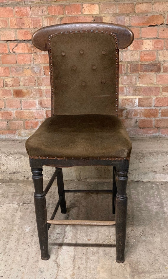 Railwayana Interest - Victorian Tall Chair / Stool Stamped GWR ( Great Western Railway)
