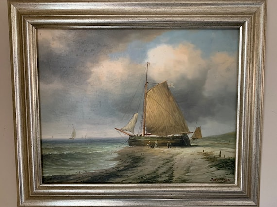 Original Marine Oil Painting on Board by the British Artist James Hardy III (born 1937)