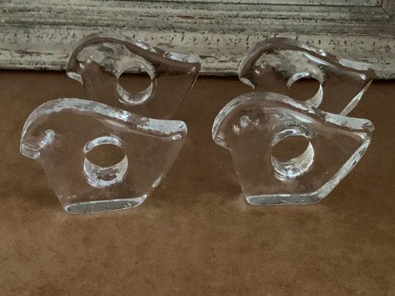 Mid Century Pukeberg Swedish Glass Napkin Holders