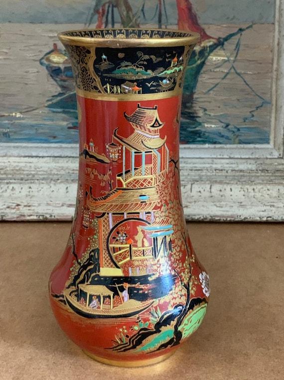 Rare W & R Carlton Ware 1920's 'Temple' Pattern Vase 2880