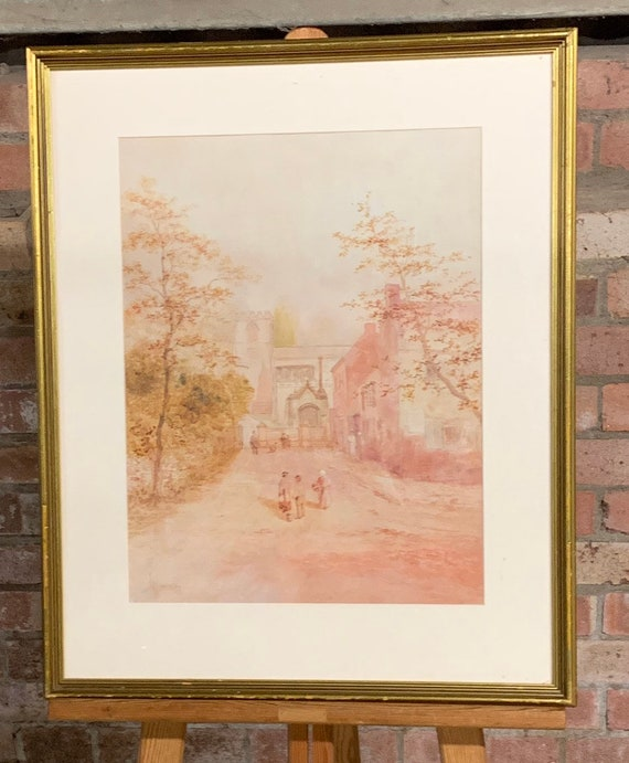 Lovely Original 19th Century Watercolour By the Landscape Painter, Henry James Lockley RBSA