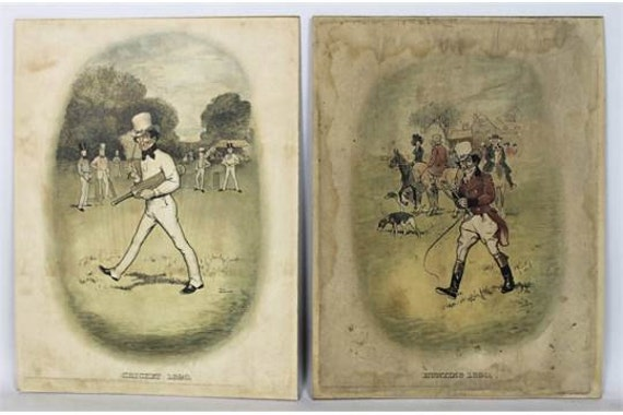Pair of Edwardian Coloured Lithographs in oval format, featuring Johnnie Walker, the character created by Tom Browne