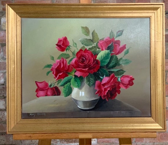 Beautiful Original Still Life Oil Painting By Mary Brown