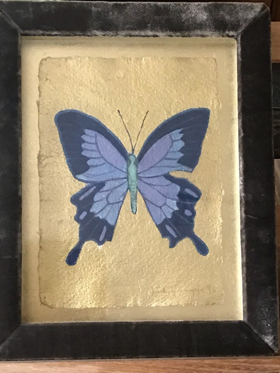 Original Luxurious Painting Of A Butterfly By Jade Jagger Dated '96'