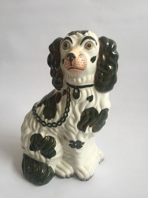 Early 19th Century Staffordshire Flat back Of A King Charles Spaniel