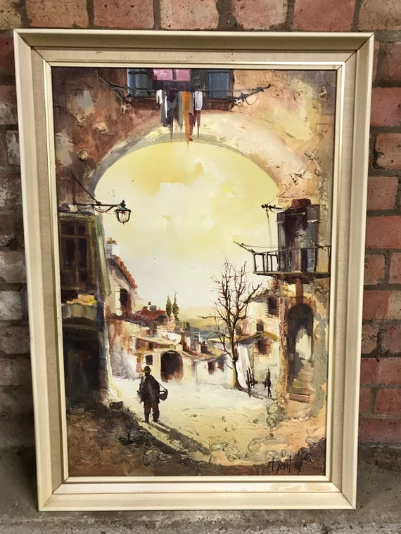 Original Oil Painting By The Spanish Artist Jorge Aguilar