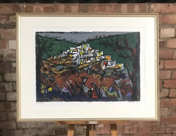 Wonderful framed Marcel Janco limited edition  print