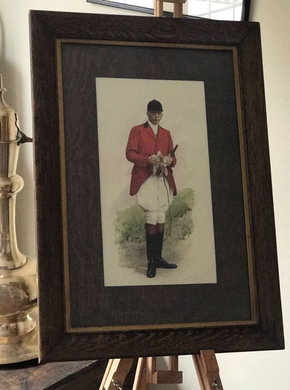Howard Barrett Southwell Watercolour & Gouache Overpainted Photograph Of a Master of Foxhounds