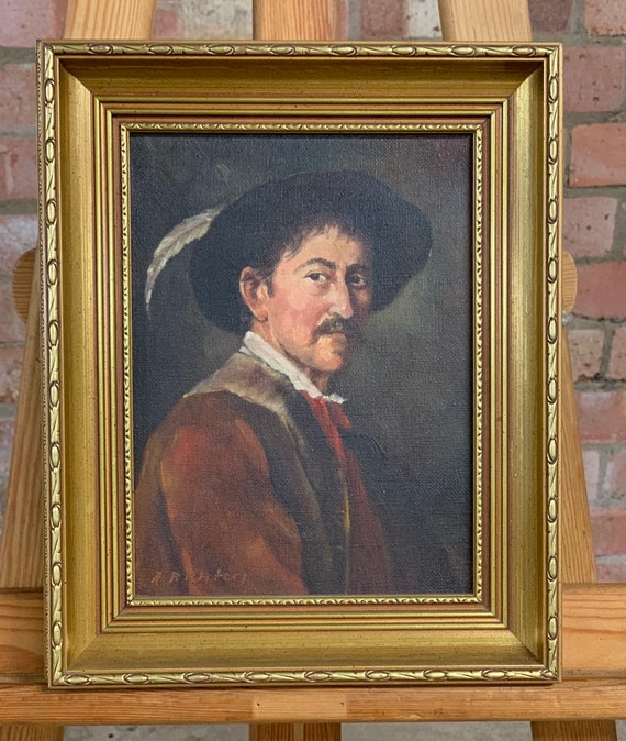 Original Portrait Oil Painting Of A Gentleman Possibly German Signed A Richter