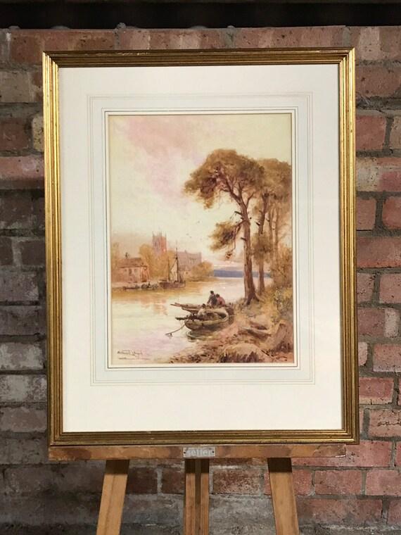 Fabulous Original Watercolour By The Artist Stuart Lloyd, 1875-1929
