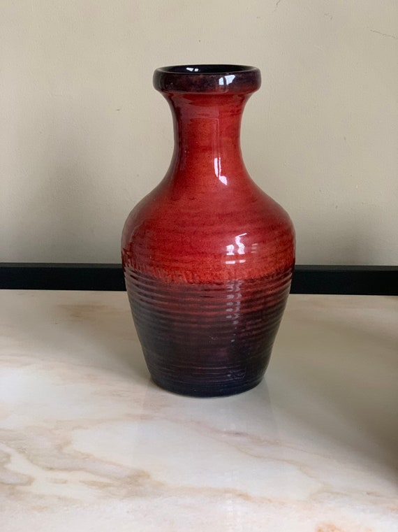 A Moorcroft Pottery Vase, With Stamp To Base Circa 1940's