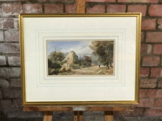 Original Watercolour Of A Rural Scene By Alfred Pizzey Newton R.W.S (1830-1883)