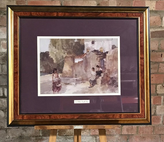 Sir William Russell Flint Framed Print Of Scantily Clad Women