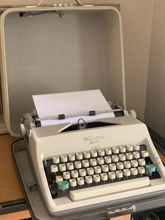 Vintage 1960/70's Olympia Monica Typewriter With Carry Case