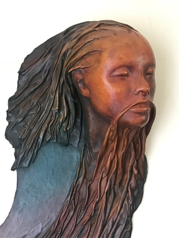 Rather Lovely & Unusual Sculpture Made From Leather By Patrice Lerouz