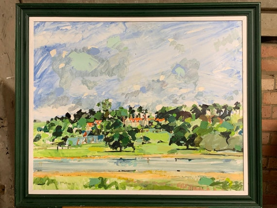 Lovely Oil Painting Of Barnsdale Hall By The Artist Michael R Hoar A.R.C.A. Dated 1990