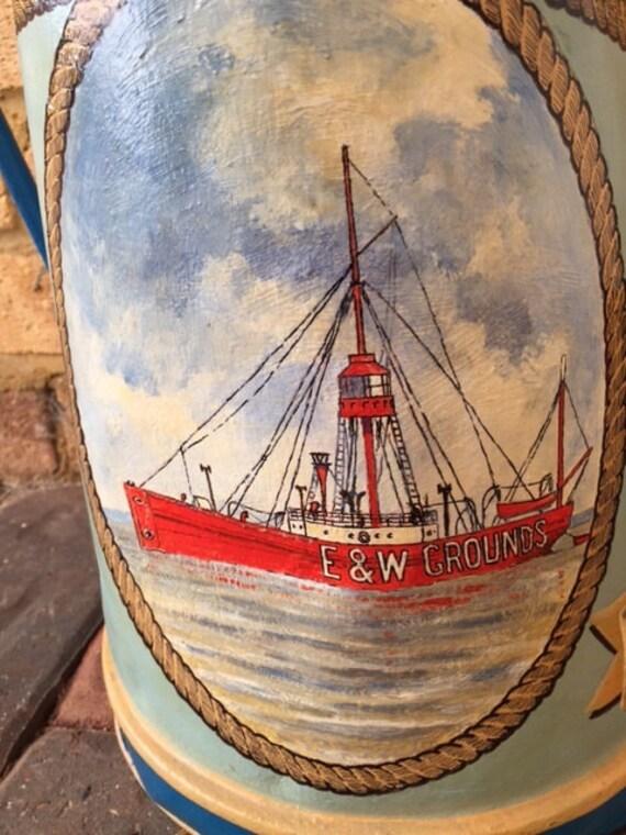 Fantastic Bargeware Hand Painted Jug 'Eider Duck'- Hand Painted by Peter Stuckey
