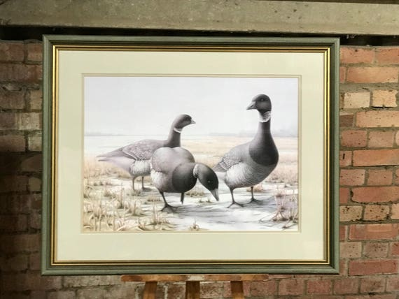 A Beautiful Large Limited Edition 6/100 Print Of Geese By Joanna Cameron